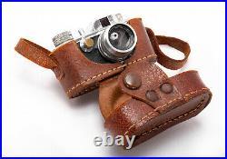 (136) Morita Saica subminiature camera with case Japan c1956 working, super nice