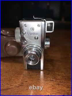 (35) Vintage STEKY mod. III miniature camera, Japan, 2 lenses, case, beautiful