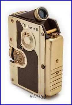 (69) GOERZ Minicord III subminiature, gold & brown, withcase, beautiful, serviced