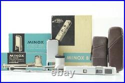 Almost Unused in BOX Minox B Vintage Miniature Silver Spy Camera Case Japan