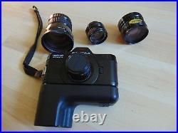 Asahi Pentax auto 110 Spiegelreflexkamera 3-Objektive lens 3-Gegenlichtblende Bl