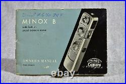 Beautiful Black Minox B With Case, Chain, Manual And Mailers