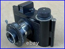 Bolta Photavit c1936. 35mm camera, 25x25mm Black Subminiature Boltavit Rare