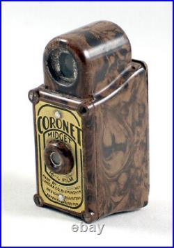 Brown Coronet Midget Bakelite Camera. More Sub Miniature Models Listed