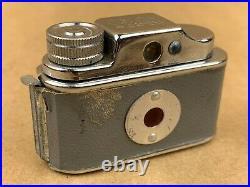 C. M. C. Gray Tougodo Hit Type Vintage Subminiature Camera with Leather case Rare
