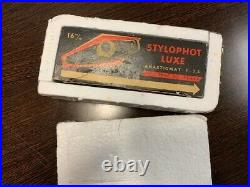 Circa 1955 Stylophot Luxe, vintage 16mm subminiture cameras