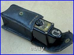 Coronet MIDGET Subminiature Camera Black Bakelite withLeather Case Cute