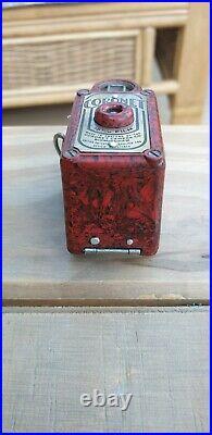 Coronet Midget Bakelite Subminiature Camera Red/Black. No damage