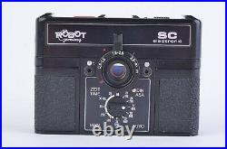 EXC++ BERNING ROBOT ELECTRONIC SC SUBMINIATURE CAMERA withCASE, TESTED, WORKS