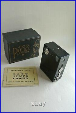 Expo Police camera with original manual and box excellent condition, rare