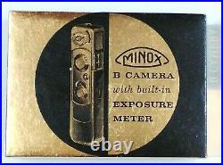 GMinox B Subminiature Film Camera in Box with Flash Attachment & Cases (Metric)