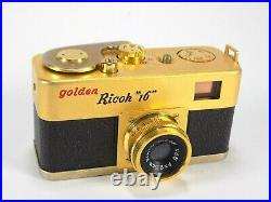 Golden Ricoh 16 Film Camera Japanese Subminiature Working Shutter Vintage