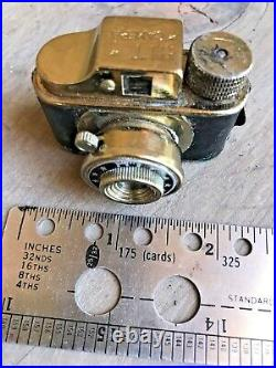 HIT Vintage Subminiature Spy Film Camera (GOLD) Made In Japan With Leather Case