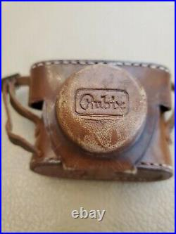 Hope Rubix 16mm Subminiature Camera With Leather Case vintage