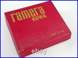 KOWA RAMERA White Red Vintage Unique Transistor Radio KTC 62 & 16mm camera LS2