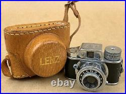 LENZ Hit Type Vintage Subminiature Camera withLeather Case NICE