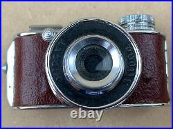 MIDGET JILONA Hit Type Vintage Subminiature Camera with Brown Leatherette Tiny