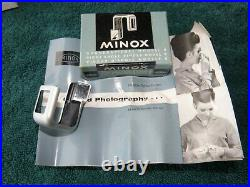 MINOX B MINITURE SPY CAMERA with 8 ACCESSORIES