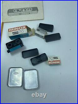 MINT MINOX C MINI SPY CAMERA MADE IN GERMANY With ATTACHMENTS