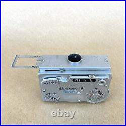 Mamiya-16 Super Subminiature Spy Film Camera With 25mm 13.5 Lens & Case, VINTAGE