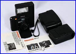 Minox 35 GT Smallest 35mm Film Camera + Color-Minotar 35mm f/2.8 Lens & FlashKit