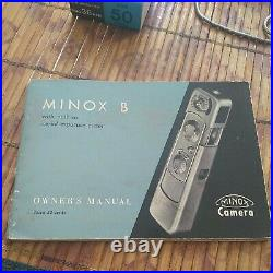 Minox B vintage cold war spy camera with 2xfilm Manual Chain AND case working