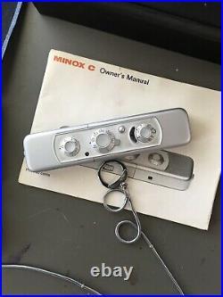 Minox C Spy Camera With Leather Case & Original Instructions