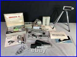Minox C Spy Subminiature Camera with Stand Flash Mounts Case Timer Manual Film