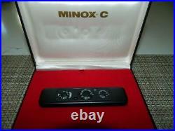 Minox C Subminiature Camera Matte Black serial #2364995 8x11 MM VTG EUC