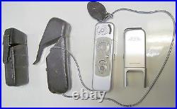 Minox Cold War Vintage Spy Camera WithMinox Flash Device & Leather Cases -German