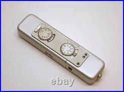 Minox LX Miniature Camera. Silver. Case. New Battery. Minty