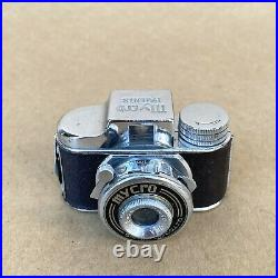 Mycro Patents Vintage Subminiature Hit Spy Film Camera With 20mm 4.5 Lens & Case