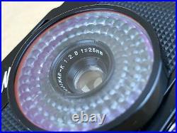 New Fujica Mini Black Subminiature camera with25mm f/2.8 Fujinar-K with Original box