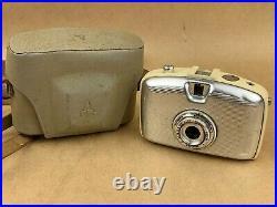 Pentacon Penti Vintage Half Frame Film Camera with meyer Lens Silver & white