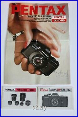 Pentax Auto 110 SLR large outfit in original Box, VGC tested and working
