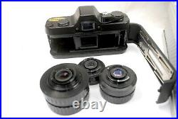 Pentax Auto 110 SLR large outfit in original attache case, VGC and all working