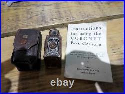 RARE CORONET MIDGET 16MM 1930s BRITISH CAMERA BIRMINGHAM
