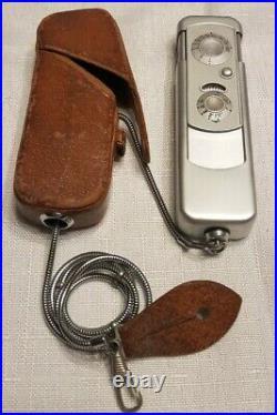 RARE Minox Wetzlar Subminiature Model A Spy Camera Germany Case & Chain #136706