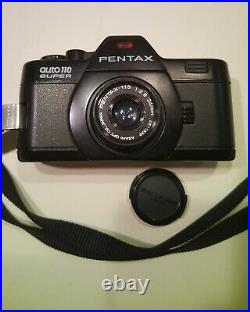 Rare Pentax Auto 110 Super Complete System Outfit In Al. Case Works