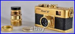 Ricoh 16 golden RICOH Subminiature camera Japan + Telepoto Lens Photo Vintage