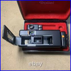 Rollei A 110 VINTAGE Subminiature Spy Film Camera Kit (BLACK) With Case, NICE