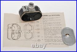 SCAT black knob last version, rare italian miniature camera 1954, exc