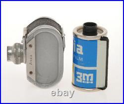 SCAT chrome knob, rare italian miniature camera 1954, exc+, sold as is