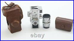 Steky Model 3 Vintage Subminiature 16mm Spy Camera 16mm W Case & Telephoto Lens