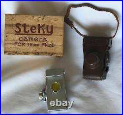 Steky Model III 16mm Subminiature Camera With Box, Case & Instructions VINTAGE