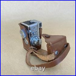 Steky Model III 16mm Subminiature Film Camera With 25mm 13.5 & Case VINTAGE