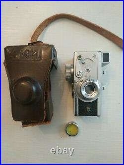 Steky Model III B Vintage Subminiature Film Camera 13.5 F=2.5cm Riken 16mm film