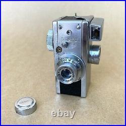 Steky Model III Vintage Subminiature Film Camera With Anastigmat 25mm 3.5 Lens