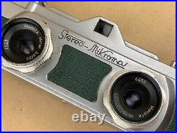 Stereo Mikroma Green Camera with Meopta 25/3,5 Mirar Made in Czechoslovakia-Rare