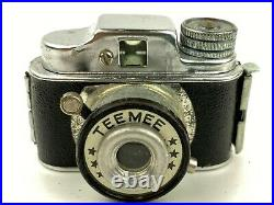 TEEMEE Hit Type Vintage Subminiature Spy Camera Made in Japan with leather case